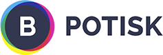 B potisk logo